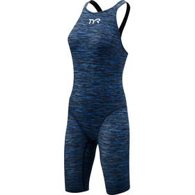TYR Thresher Baja Open Back Swimsuit Dam blue